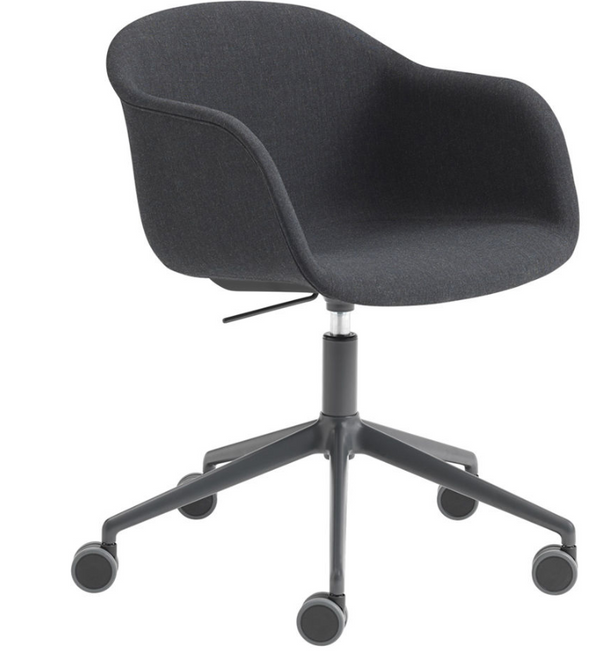 Fiber Armchair - Swivel Base With Castors & Gas Lift