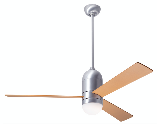 Cirrus DC Ceiling Fan With LED Light - Aluminum