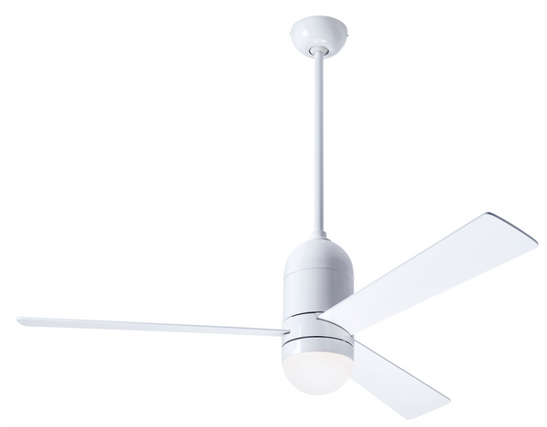 Cirrus DC Ceiling Fan With LED Light - White