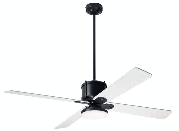 Industry DC Ceiling Fan with LED Light - Dark Bronze