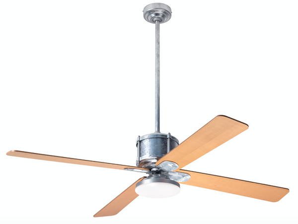 Industry DC Ceiling Fan with LED Light - Galvanized