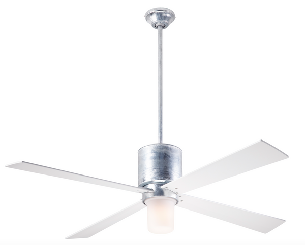 Lapa Fan With LED Light - Galvanized