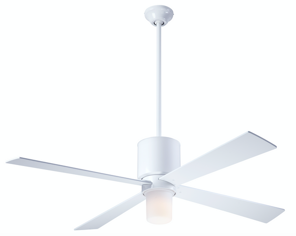 Lapa Fan With LED Light - White