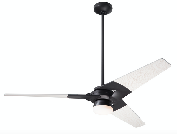 "Torsion Ceiling Fan 62"" With Light - Dark Bronze"