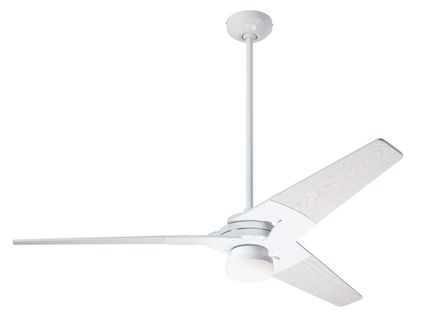 "Torsion Ceiling Fan 52"" With Light - Gloss White"
