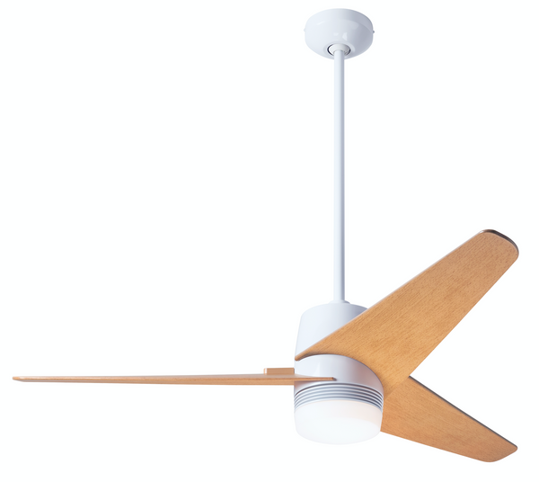 Velo DC Ceiling Fan With Light - Gloss White