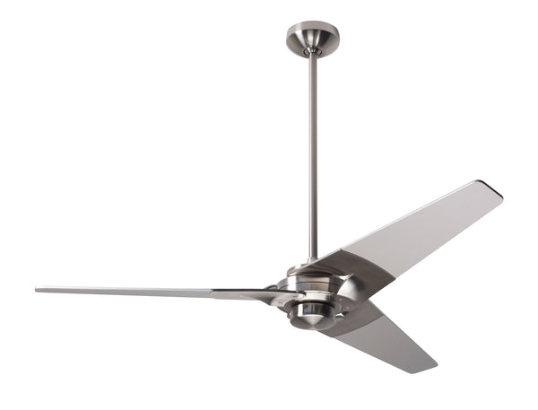 Torsion Ceiling Fan - Bright Nickel