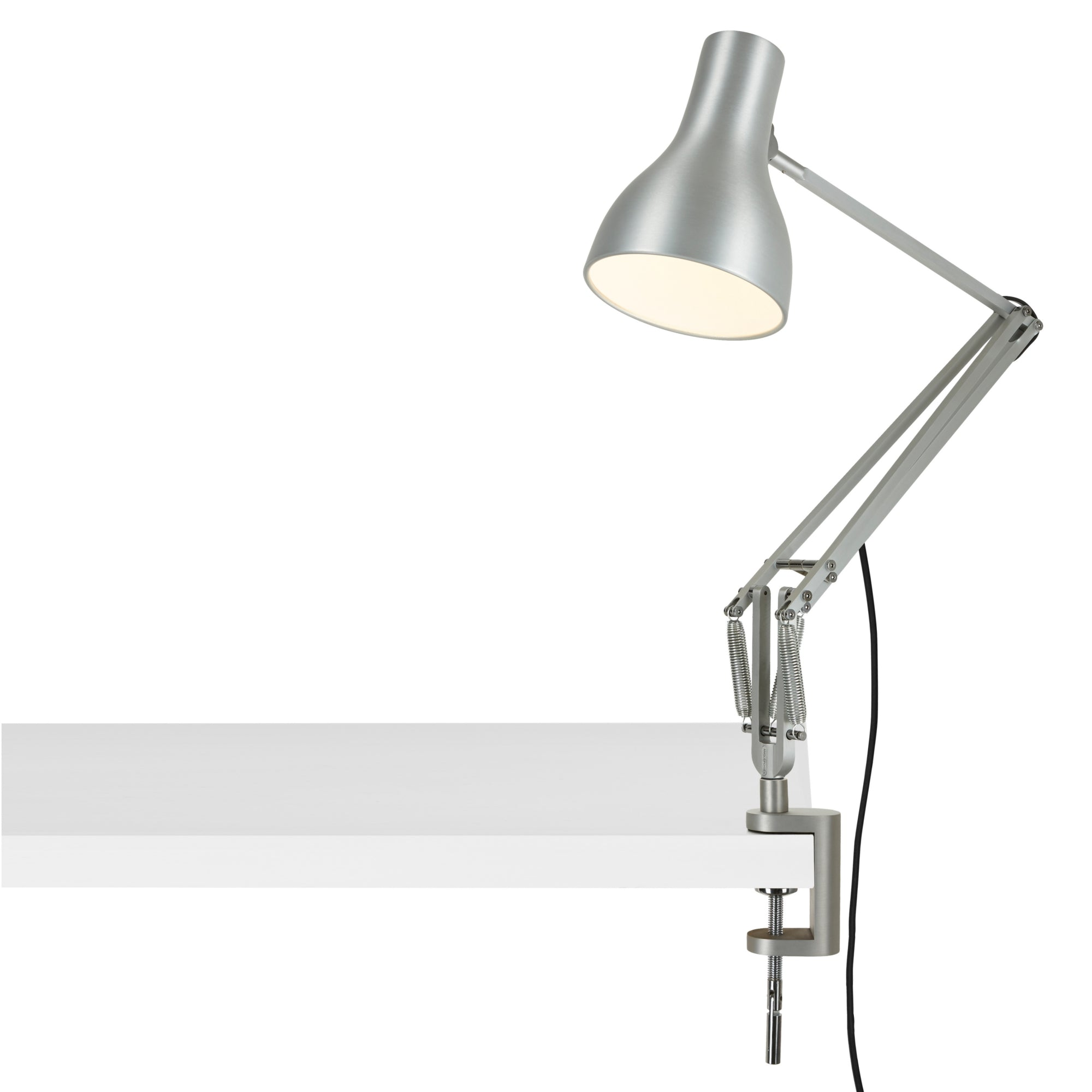 Anglepoise Type 75 Desk Lamp Clamp Base Silver Luster