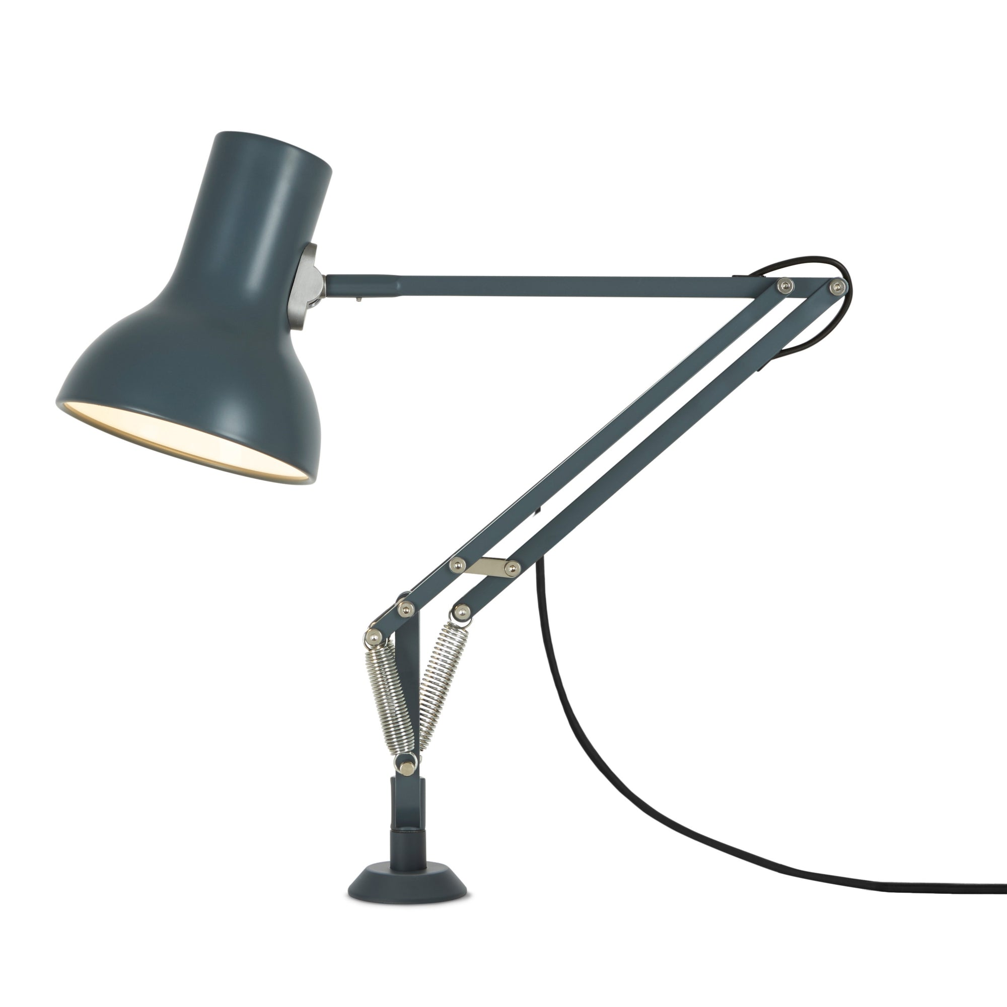 Anglepoise Type 75 Mini Lamp with Desk Insert Slate Grey