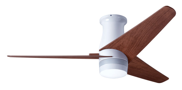 Velo Flush DC Ceiling Fan - Gloss White