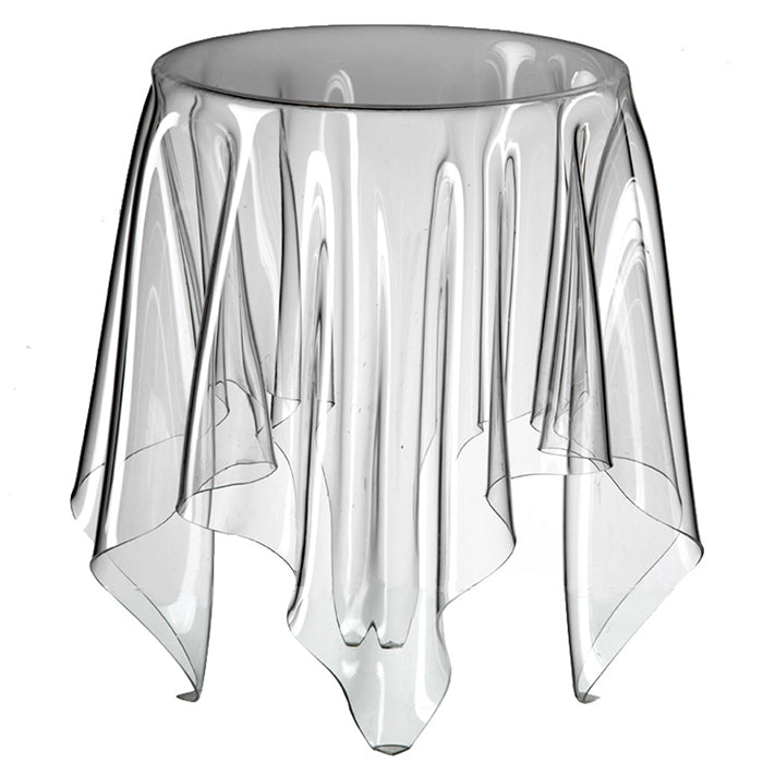 Grand Illusion Side Table   Clear. SCROLL. Essey