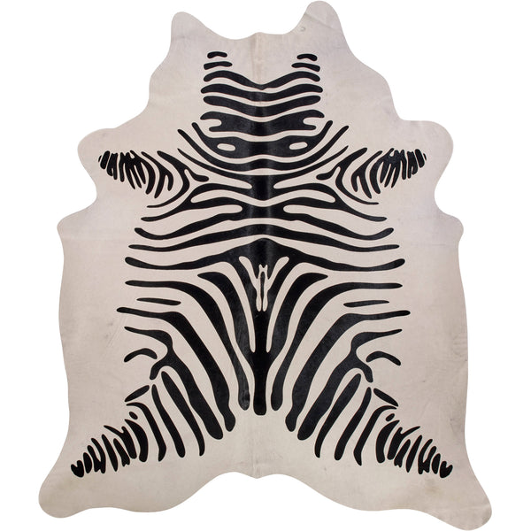 Cowhide Rug - Black On White Zebra