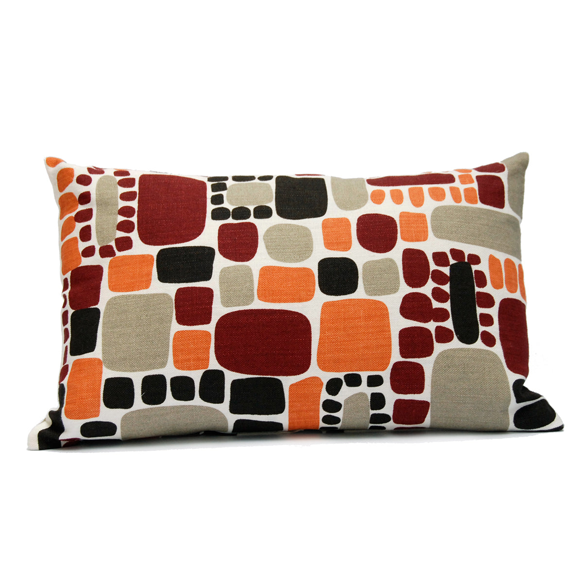Area Area Pebbles Pillow in Orange Large