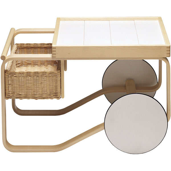 Tea Trolley With Basket