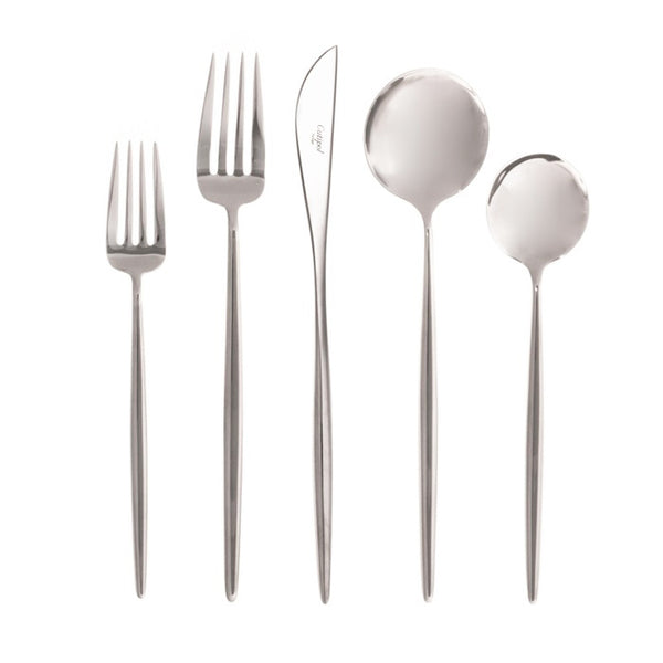 Moon Cutlery - Polished Steel - Boxed Sets