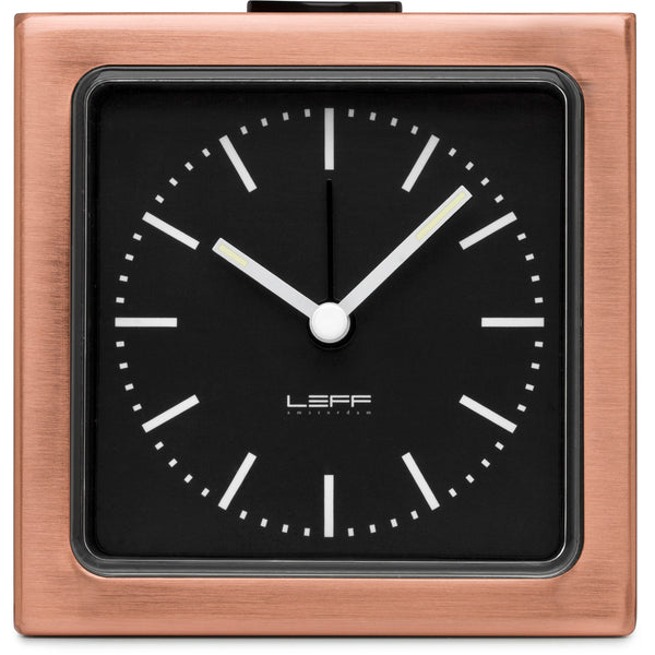 Block Copper Clock - Black Index