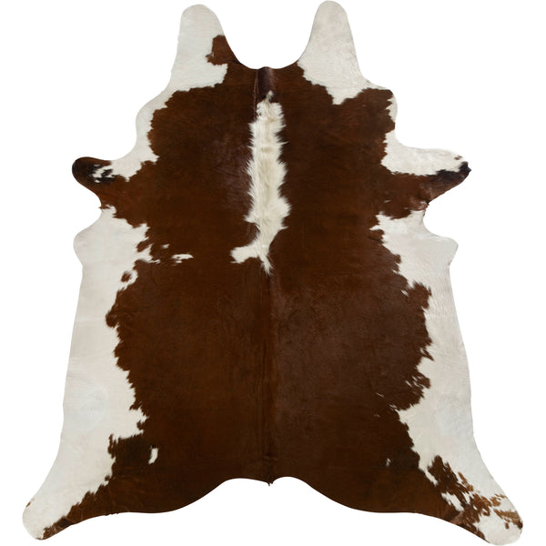 Cowhide Rug - Brown/White Regular