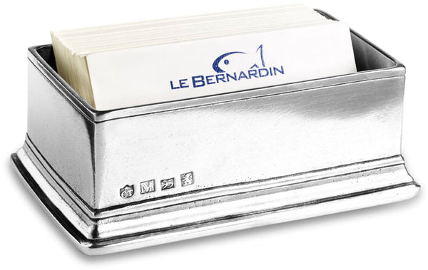 Pewter Business Card Holder