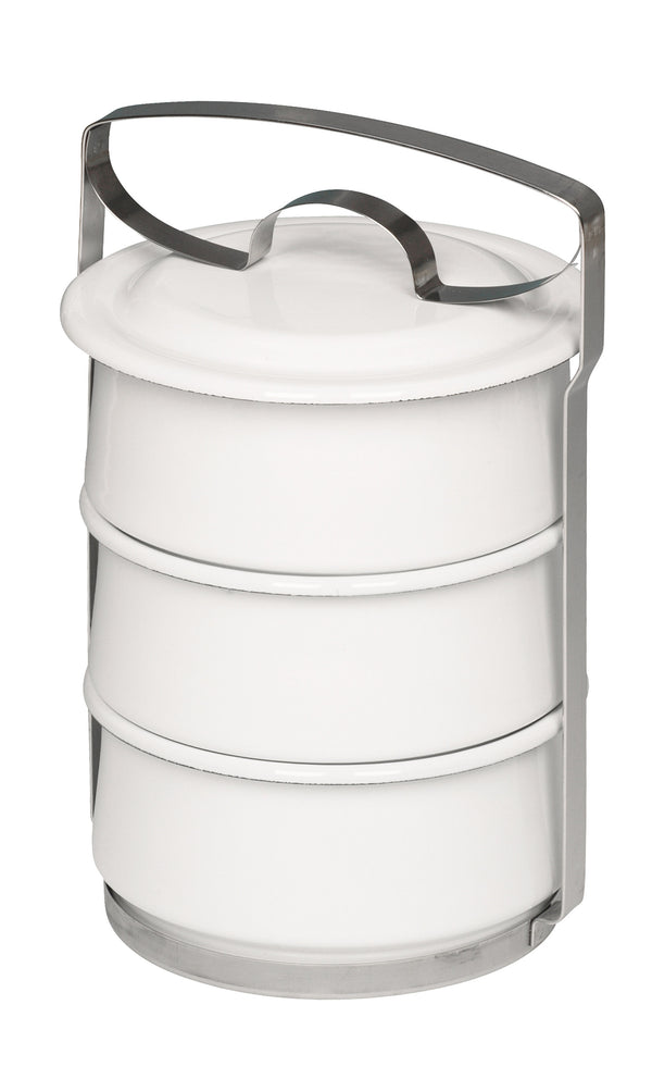 Riess Three-Tier Enamel Food Container