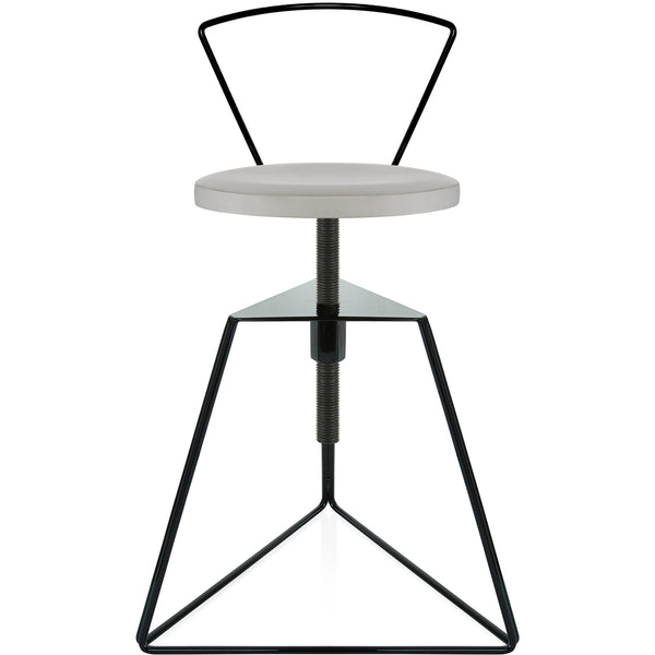 The Camp Stool With Backrest - Ecru