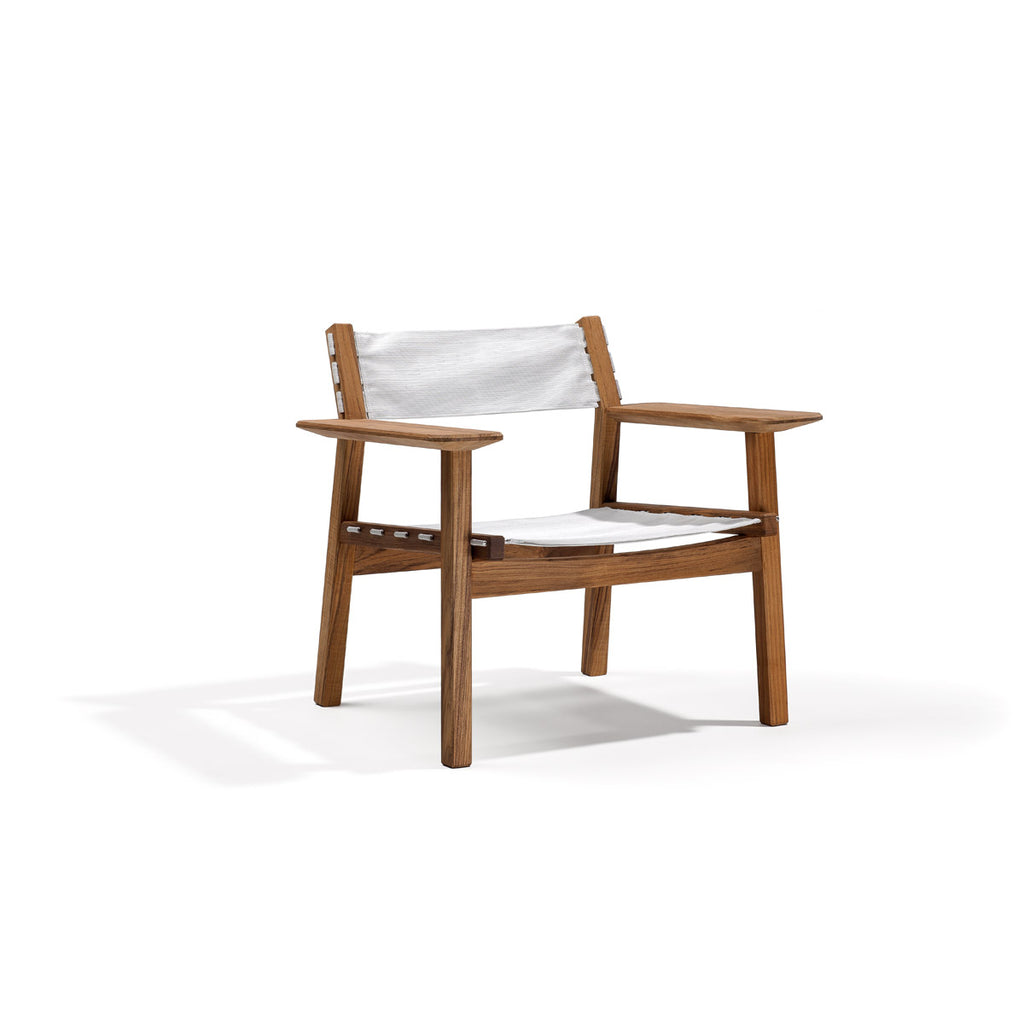 Djuro lounge chair teak fabric