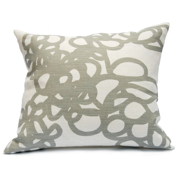 Daisy Pillow in Gray