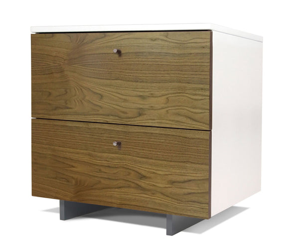 Roh Nightstand - Walnut/White