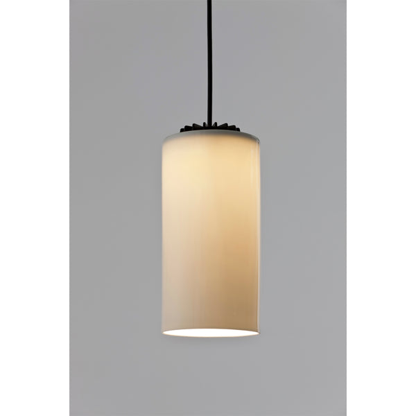 Cirio Simple Pendant - White Opal Glass