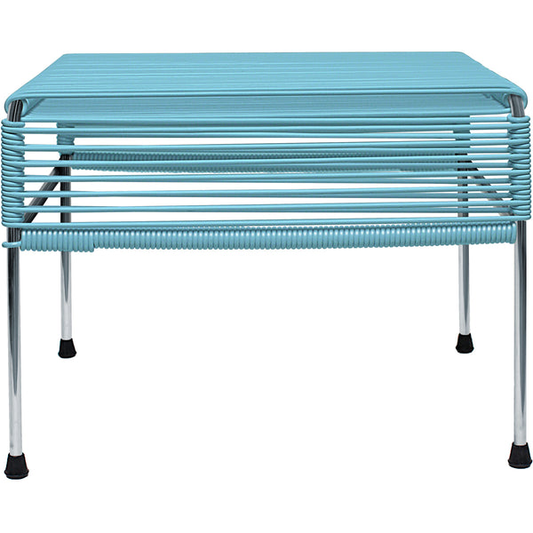 Adam Ottoman/Table - Chrome Frame