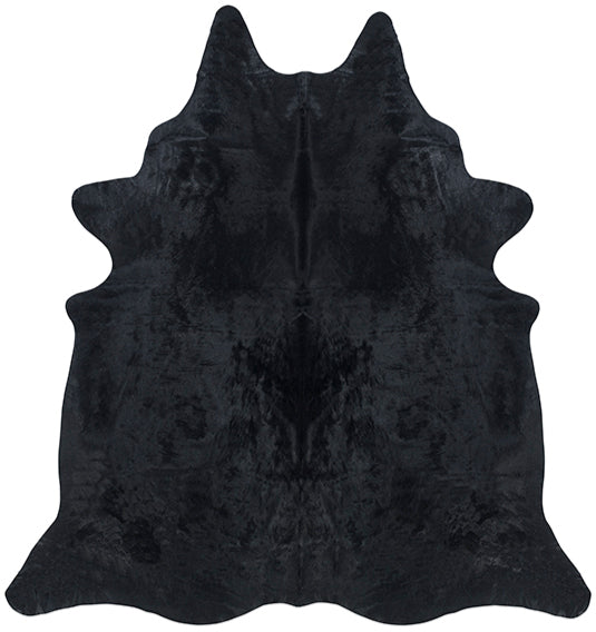 Cowhide Rug - Solid Black Dyed
