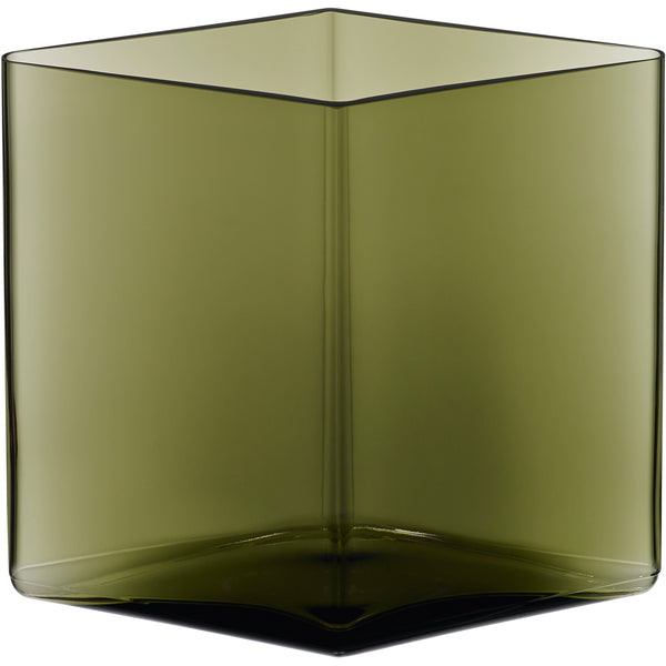 "Clone of Ruutu Vase Green - 8.25"" x 7.25"""