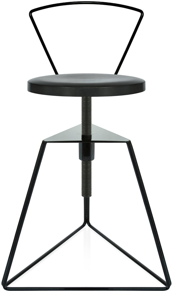 The Camp Stool With Backrest - Charcoal