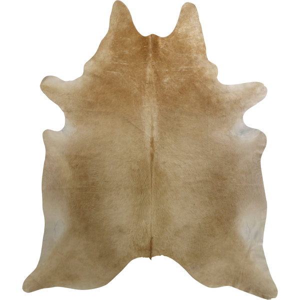 Cowhide Rug - Solid Beige Natural