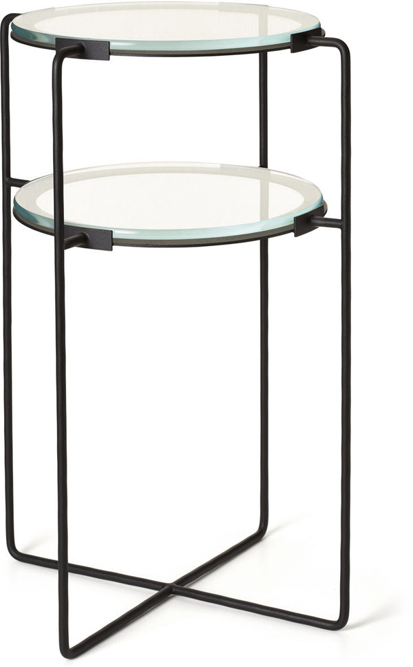 JM Two Tier Side Table - Black
