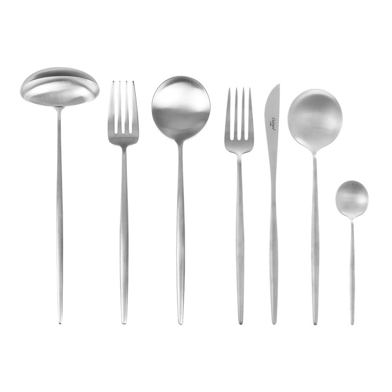 CUTIPOL Moon Brushed Silver Table Spoon//Dinner Spoon