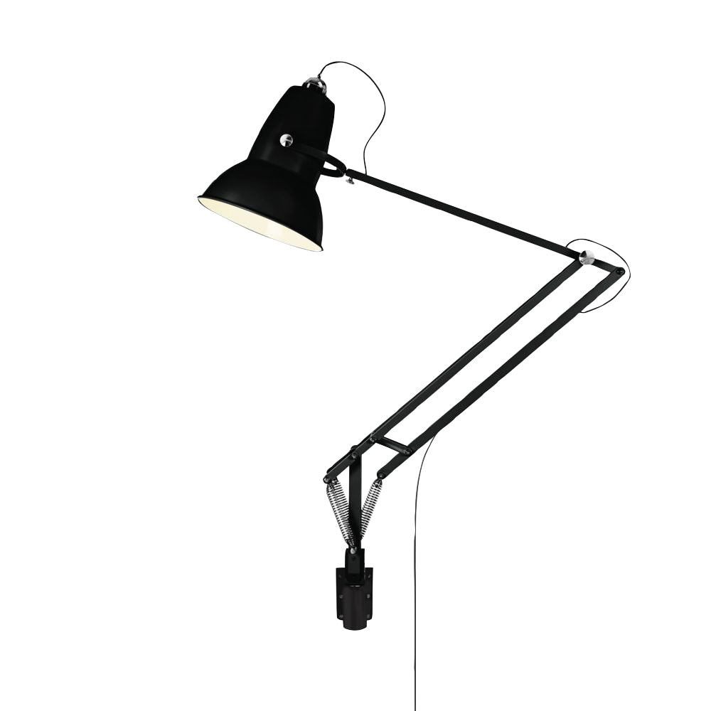 Anglepoise Original 1227 Giant Outdoor Wall Mounted Lamp Jet Black Matte