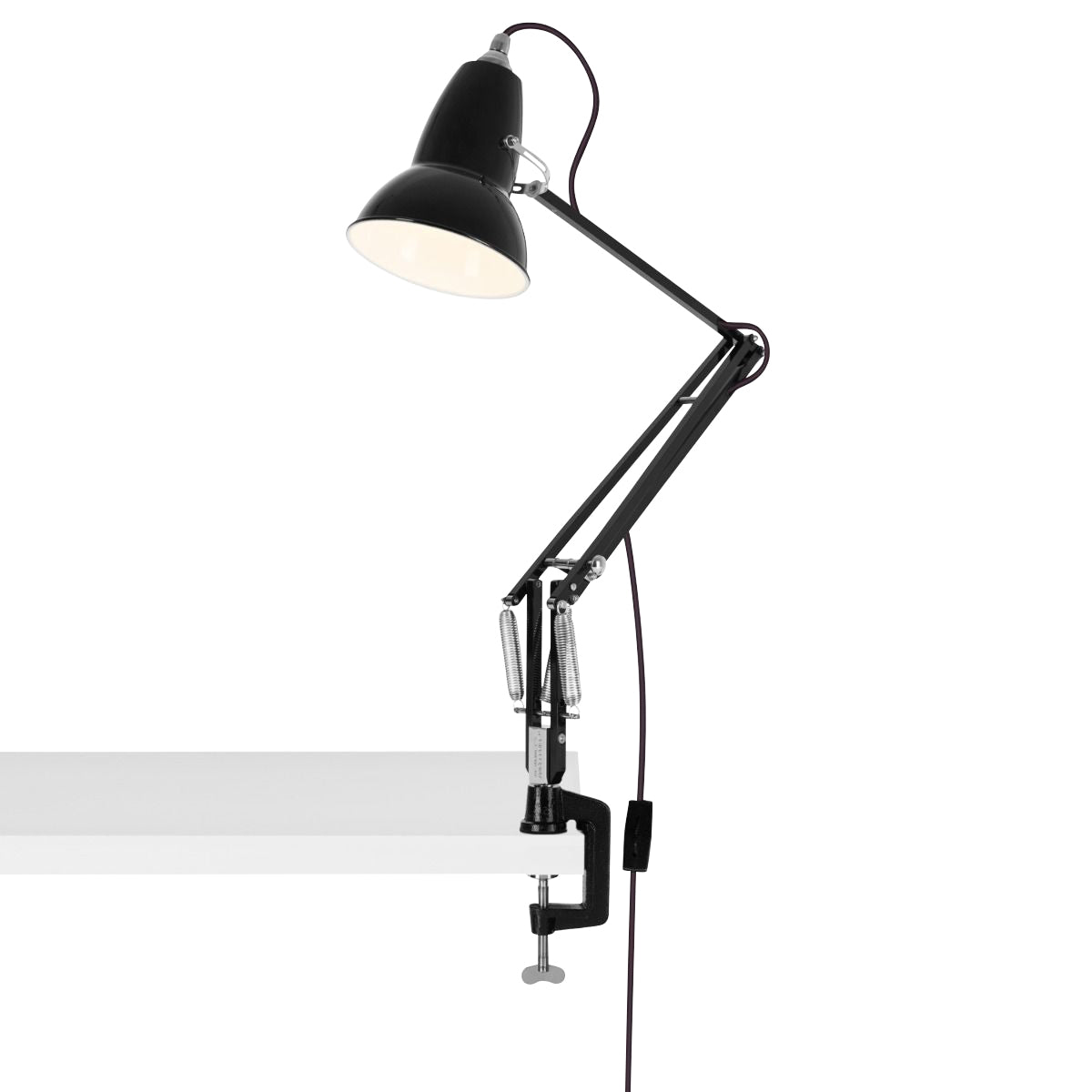 Anglepoise Original 1227 Desk Lamp with Clamp Jet Black