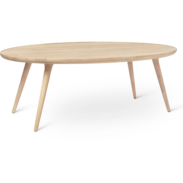 Accent Oval Lounge Table - Matte Lacquered Oak