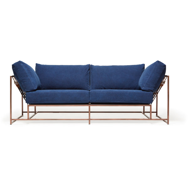 Inheritance Two Seat Sofa - Indigo Canvas