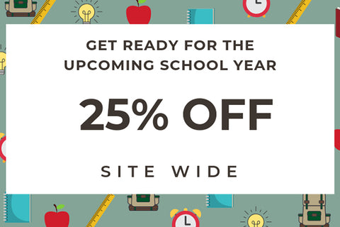 Newsletter: 25% Off for Back to School + Work
