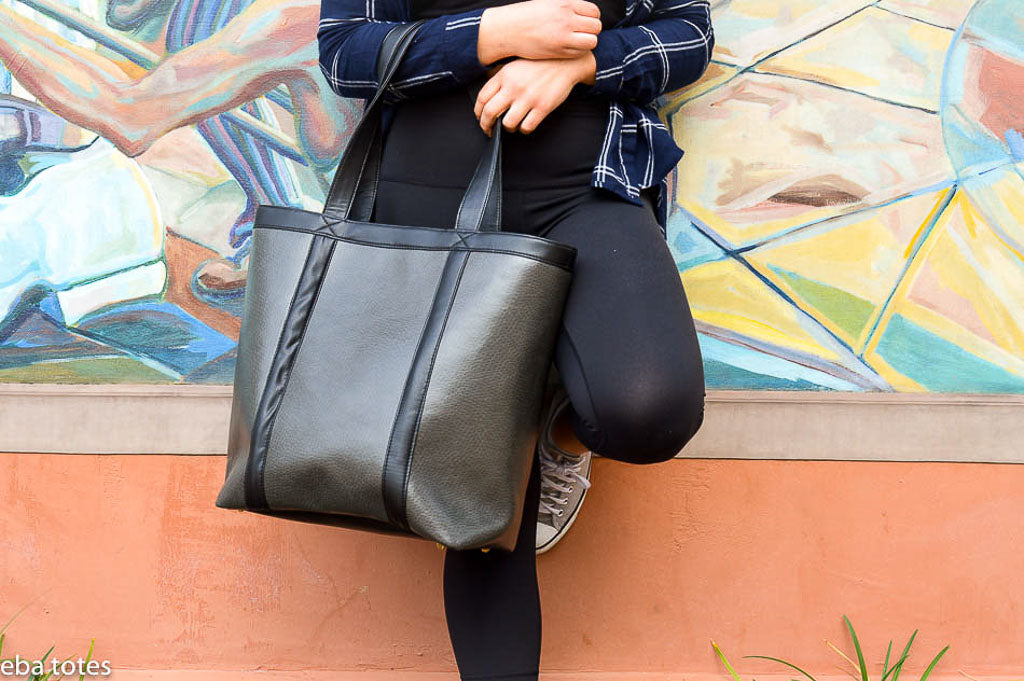 Designing stylish earth friendly vegan totes for the modern conscious women