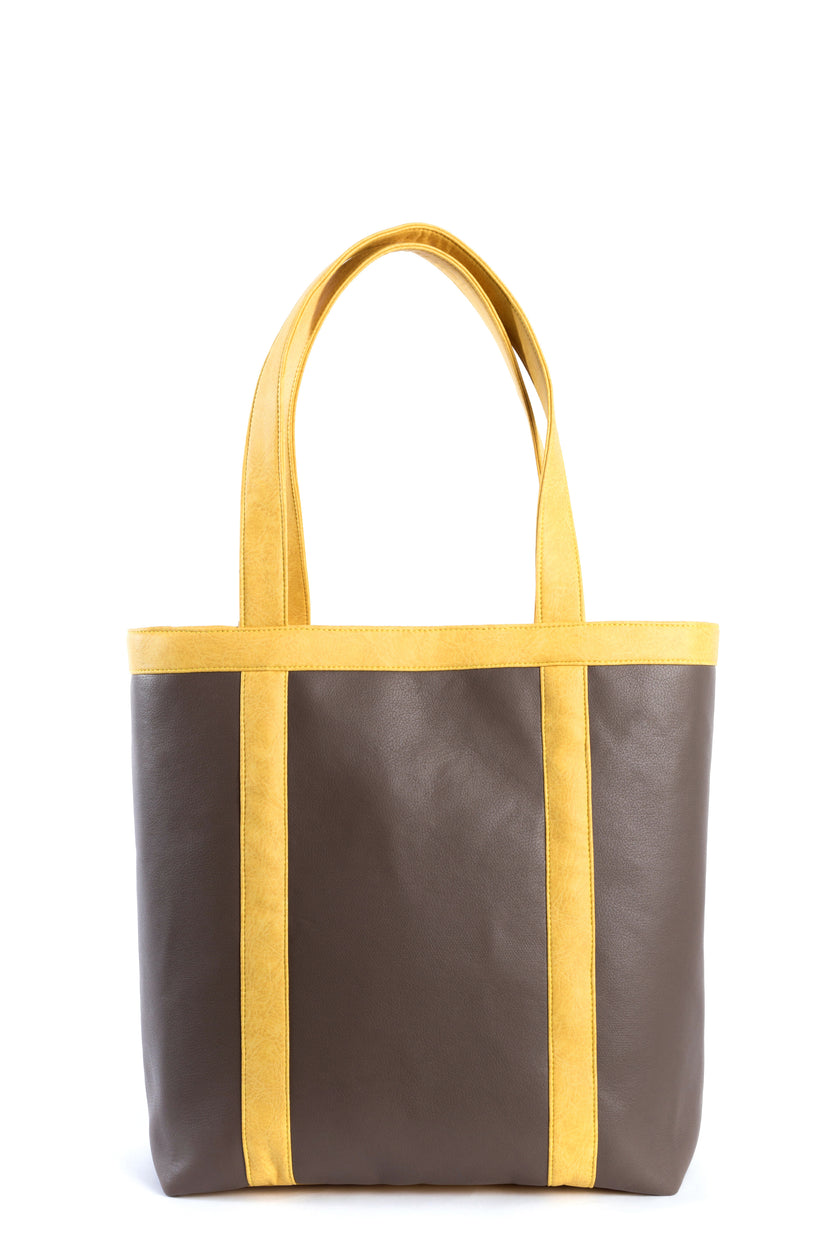 Vegan leather shiitake tote