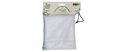 natural home reusable veggie bags