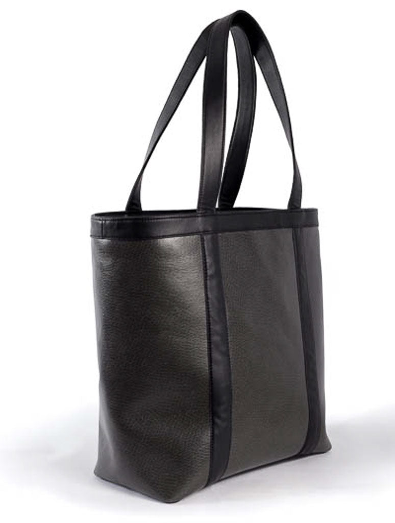 ... The Uccello tote features the vegan leather in both the stunning black  Onyx and Uccello Sequoia ... f5580dfb19395