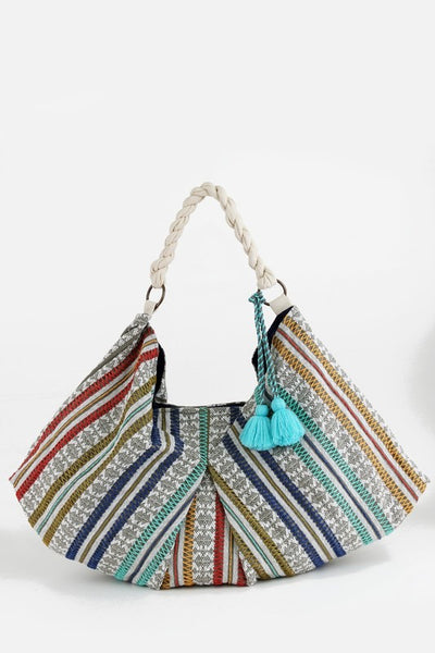 Handwoven Multicolored Shoulder Bag