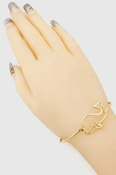 Whale Open Cut Bangle Bracelet