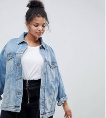 Oversized Plus Size Denim Jacket