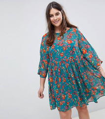 Printed Smock Mini Dress