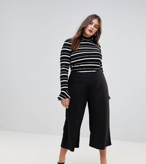 Black Cropped Culottes