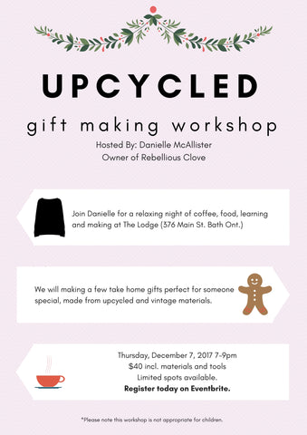 Upcycled Gift Making Workshop On Eventbrite
